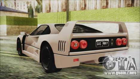 Ferrari F40 Gas Monkey para GTA San Andreas left