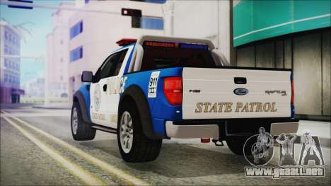 Ford F-150 SVT Raptor 2012 Police Version para GTA San Andreas left