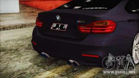 BMW M4 Stance 2014 para GTA San Andreas vista hacia atrás