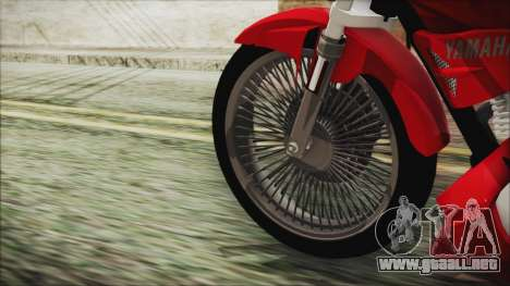 Yamaha YBR Tuning para GTA San Andreas vista posterior izquierda