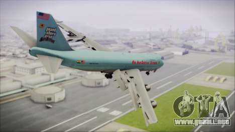 Boeing 747-100 Blue para GTA San Andreas left