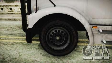 Indonesian Benson Truck Not In Real Life Version para GTA San Andreas vista posterior izquierda