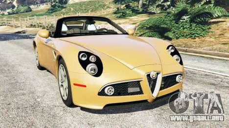 Alfa Romeo 8C Spider 2012 para GTA 5