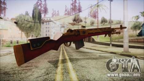 Xmas M14 para GTA San Andreas segunda pantalla