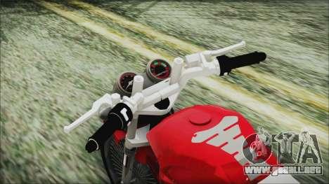 Yamaha YBR Tuning para GTA San Andreas vista hacia atrás