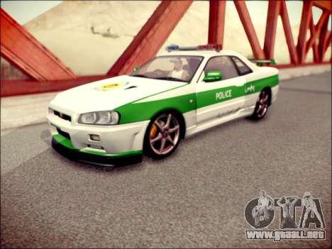 Nissan Skyline Iranian Police para GTA San Andreas