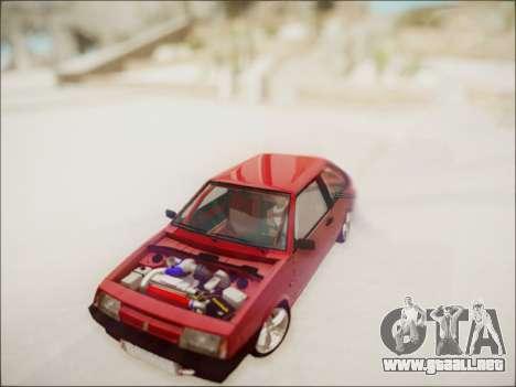 VAZ 2108 Turbo para GTA San Andreas vista hacia atrás