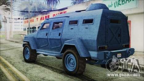 GTA 5 HVY Insurgent Van IVF para GTA San Andreas left