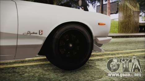 Nissan Skyline GT-R Hakosuka para GTA San Andreas vista posterior izquierda
