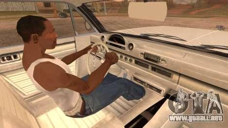 GTA 5 Declasse Clean Voodoo Hydra Version para GTA San Andreas vista posterior izquierda