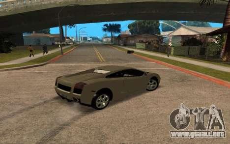 Lamborghini Gallardo Tunable v2 para la vista superior GTA San Andreas