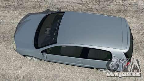 GTA 5 Volkswagen Golf Mk5 GTI 2006 vista trasera