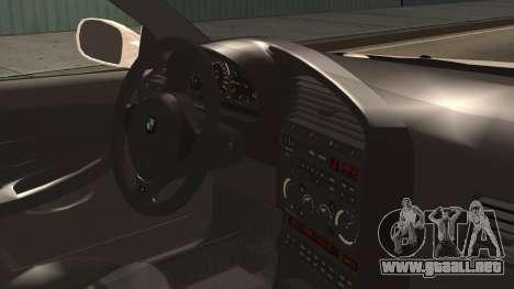 BMW M3 E36 Frozen para la visión correcta GTA San Andreas