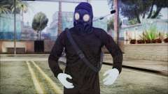 GTA 5 Online The Heist Gasmask White para GTA San Andreas