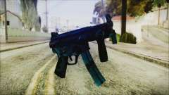 MP5K Black Blue Abstract para GTA San Andreas