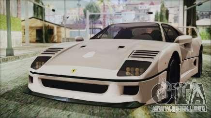 Ferrari F40 Gas Monkey para GTA San Andreas