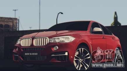 BMW X6M 50D para GTA San Andreas