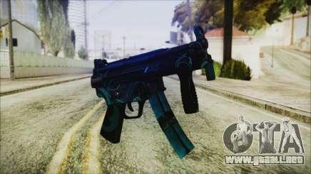 MP5K Black Blue Abstract para GTA San Andreas