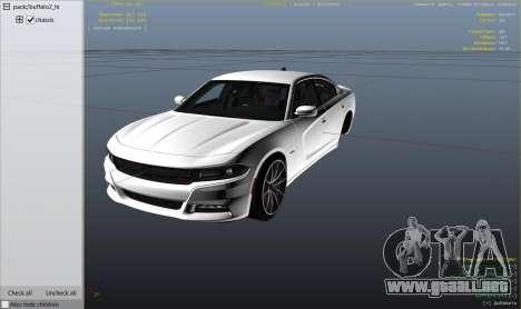 GTA 5 2015 Dodge Charger RT 1.4 vista lateral derecha