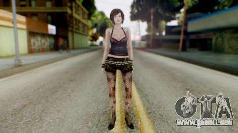 Fatal Frame 4 Misaki Punk Outfit para GTA San Andreas segunda pantalla