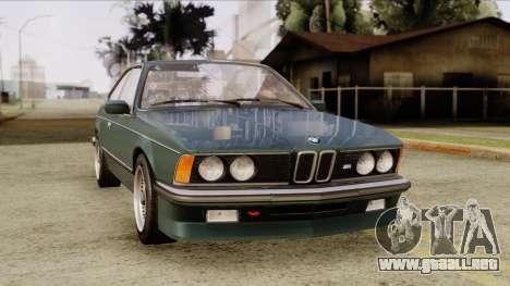 BMW M635 E24 CSi 1984 Stock para la visión correcta GTA San Andreas