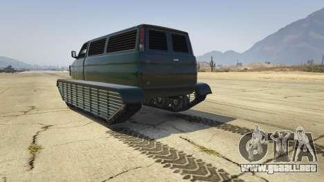 GTA 5 Police Transporter Tracked vista lateral izquierda trasera