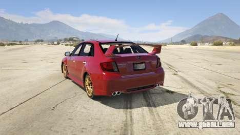 2011 Subaru Impreza STI para GTA 5