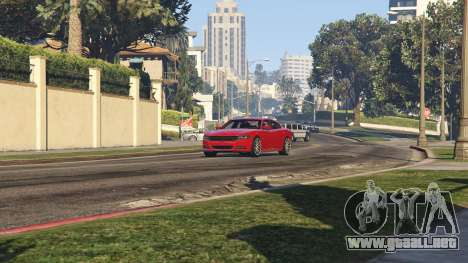 GTA 5 2015 Dodge Charger RT 1.4 vista trasera