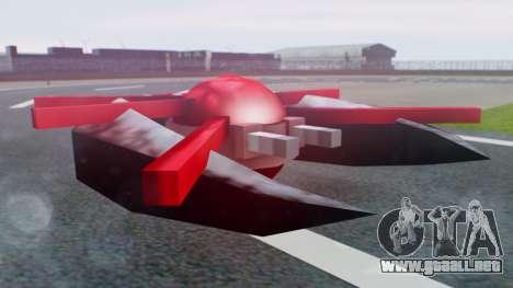 Alien Ship Red-Gray para GTA San Andreas