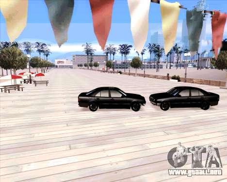 Mercedes Benz E-Class para GTA San Andreas vista hacia atrás