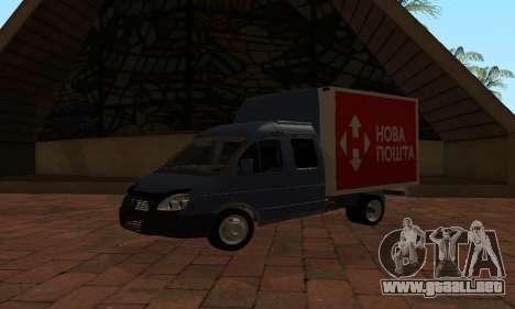 GAZelle 33023 Nova Poshta para GTA San Andreas