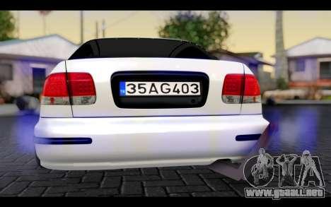 Honda Civic 1.6 para visión interna GTA San Andreas
