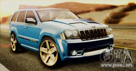 Jeep Grand Cherokee SRT8 Final version para GTA San Andreas left