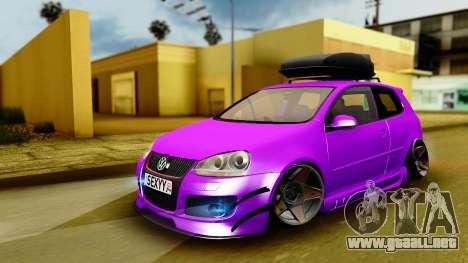 Volkswagen Golf Mk5 Stanced para GTA San Andreas