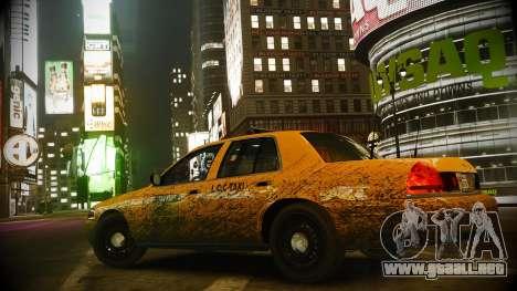 Ford Crown Victoria L.C.C Taxi para GTA 4 vista hacia atrás