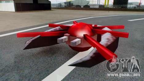 Alien Ship Red-Gray para la visión correcta GTA San Andreas