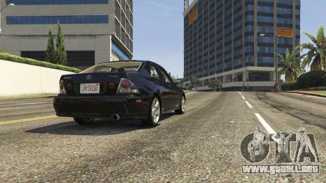 GTA 5 Lexus IS300 Tunable 1.0 vista trasera