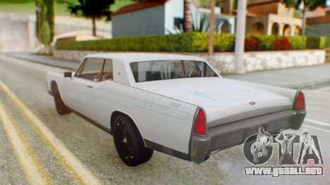 GTA 5 Vapid Chino Tunable PJ para visión interna GTA San Andreas