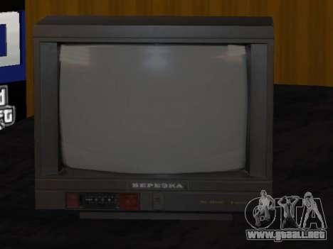 TV de abedul 37ТЦ-5141Д para GTA San Andreas segunda pantalla