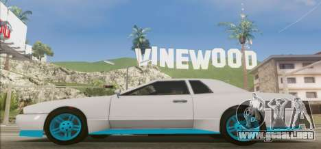 Elegy DRIFT KING GT-1 [2.0] (New wheels) para GTA San Andreas left
