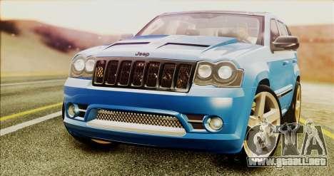 Jeep Grand Cherokee SRT8 Final version para la visión correcta GTA San Andreas