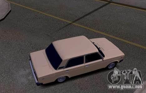 VAZ 2107 KBR para visión interna GTA San Andreas