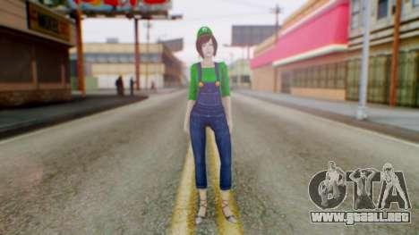 Fatal Frame 4 Misaki Luigi Clothes para GTA San Andreas segunda pantalla