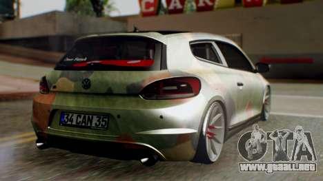 Volkswagen Scirocco R Army Edition para GTA San Andreas left