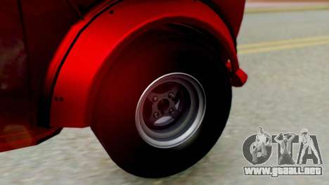 Mini Miglia para GTA San Andreas vista posterior izquierda