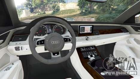 GTA 5 Audi S8 Quattro 2013 v1.2 vista lateral trasera derecha