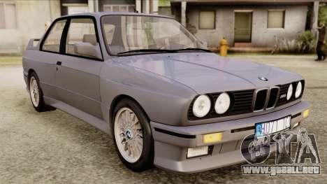 BMW M3 E30 1991 Stock para GTA San Andreas