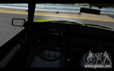 Lada Samara para GTA San Andreas vista hacia atrás