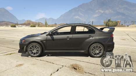 GTA 5 Mitsubishi Lancer Evolution X FQ-400 v2 vista lateral izquierda