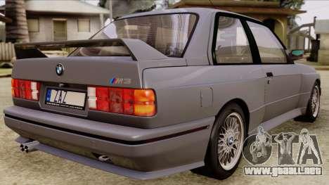 BMW M3 E30 1991 Stock para GTA San Andreas left